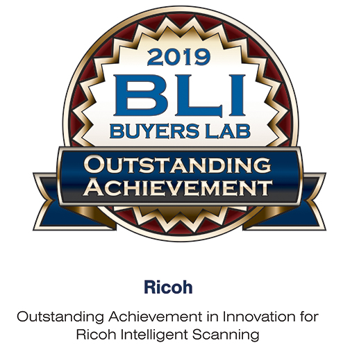BLI Award Outstanding Achievement in Innovation for Ricoh Intelligent Scanning